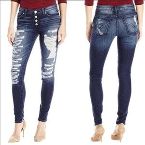 Hudson Jeans Ciara Skinny Exposed Button Jeans